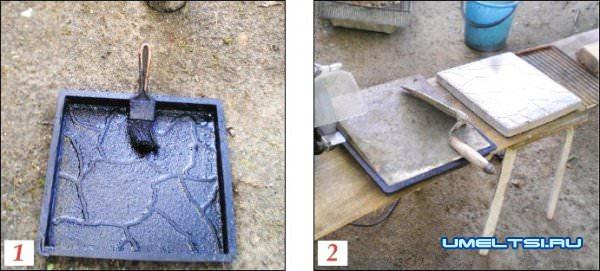 тротуарной плитки в домашних условиях