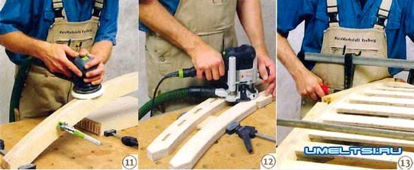 ход работ-изготовлению шезлонга