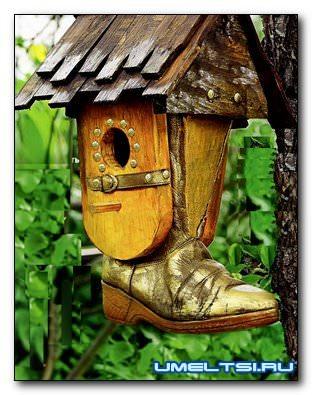 Домик для птиц (скворечник) из подручных средств