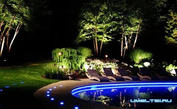 Наружное освещение для загородного дома