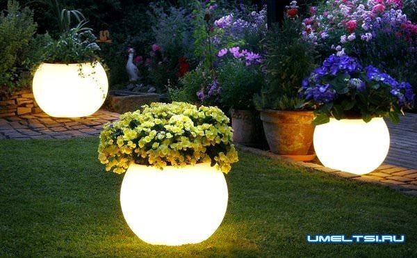 примеры наружного освещения