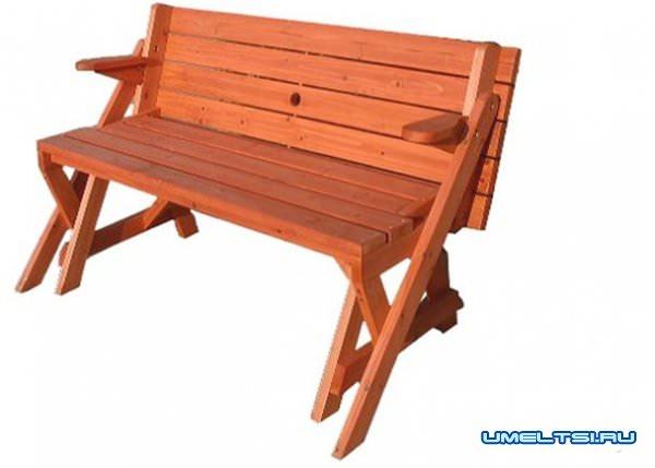 Фото скамейки-трансформера