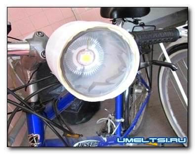 Велофара своими руками на светодиодах
