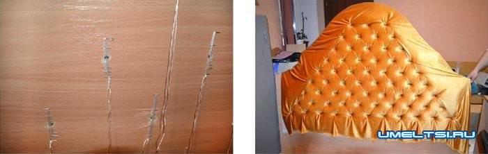 Кровать с мягким изголовьем: фото