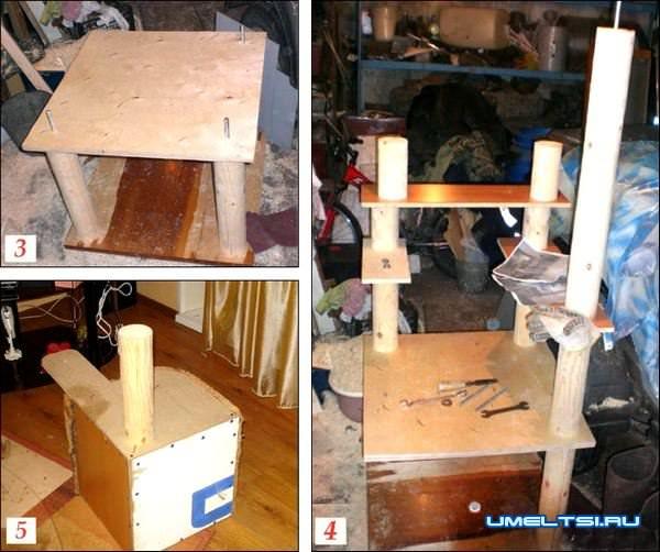 домик для кошек своими руками-чертеж