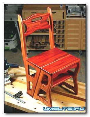 Как сделать стул-стремянку своими руками
