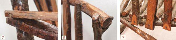 садовое кресло из веток