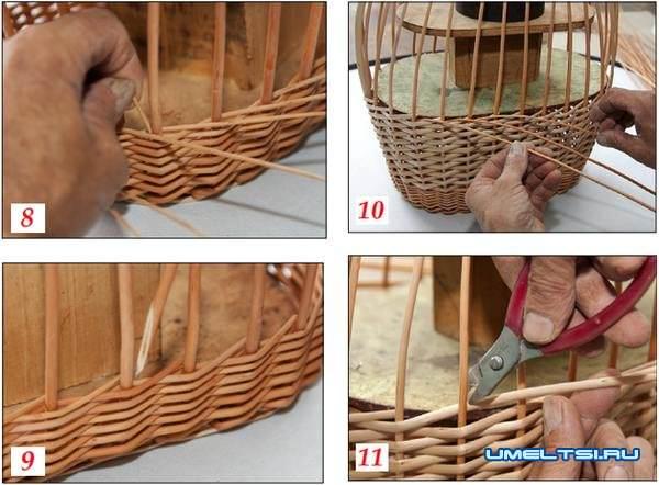 Плетение корзин из лозы