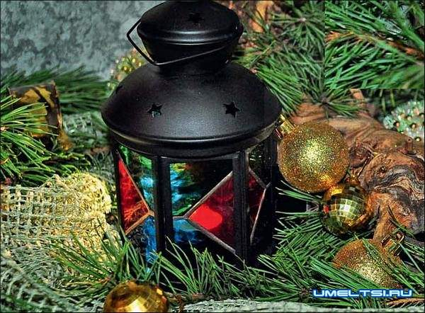Новогодний фонарик своими руками
