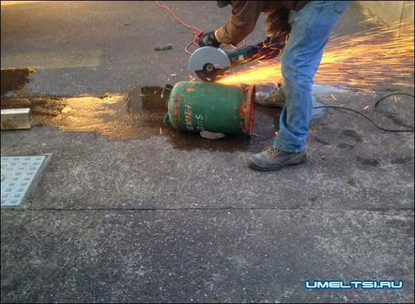 Печь с варочной плитой из газового баллона мастер класс фото 1