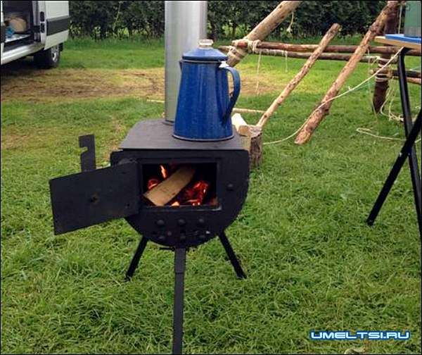 Печь с варочной плитой из газового баллона мастер класс фото 14