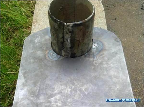 Печь с варочной плитой из газового баллона мастер класс фото 12