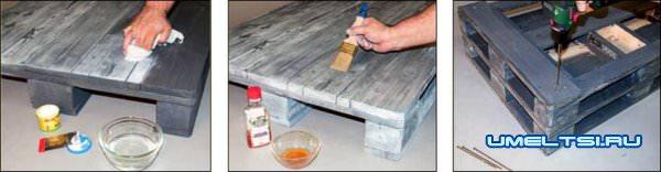 ход работ изготовления стола фото 8