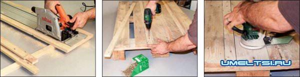 ход работ изготовления стола фото 2