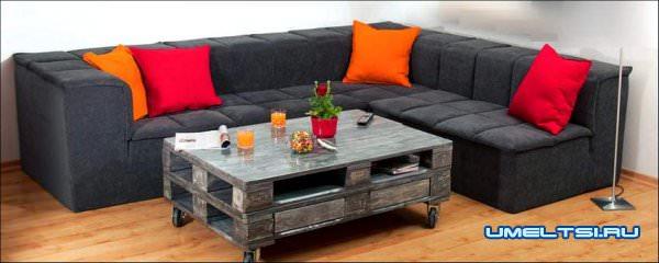 дизайнерский стол из палет