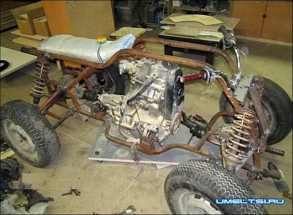 Квадроцикл своими руками 4х4 сборка фото 1