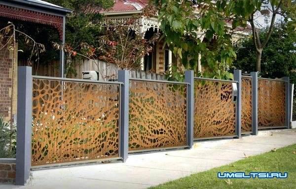 Оригинальный забор: фото 10