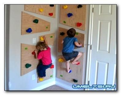 Скалодром для детей своими руками