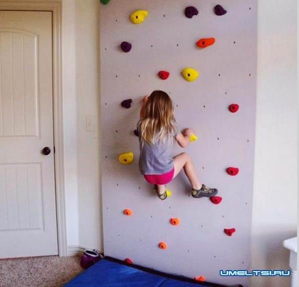 Скалодром для детей своими руками: фото
