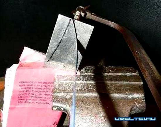 Метательный нож своими руками -чертеж