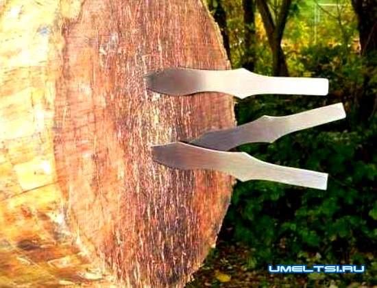 Метательный нож своими руками
