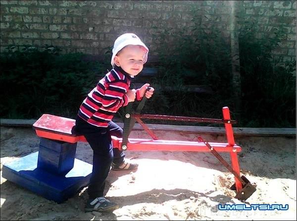 экскаватор для детей своими руками-ход работ