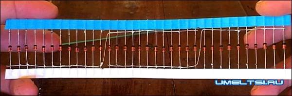 Солнечная батарея из диодов