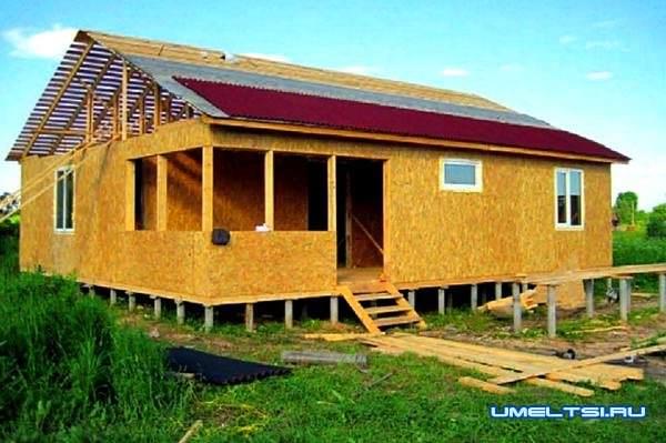 Строительство каркасного дома за месяц