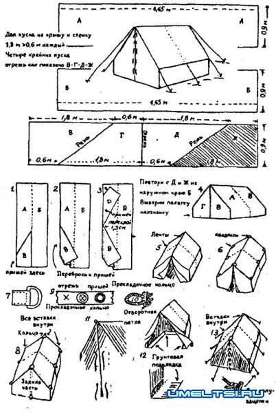 чертеж палатки