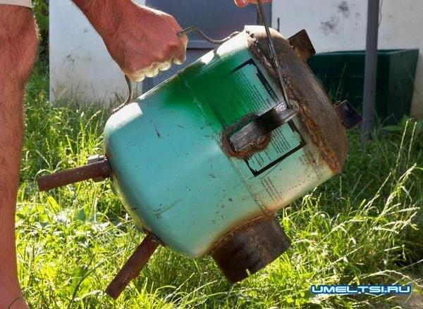 Печь-ракета из газового баллона своими руками