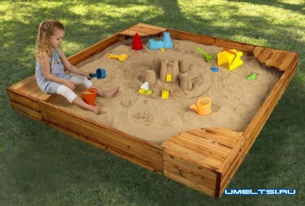 песочница своими руками-идеи