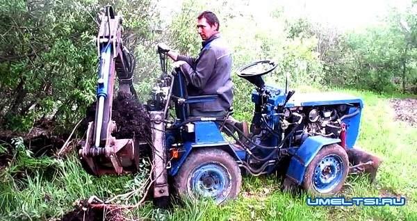 Мини экскаватор своими руками на мини тракторе