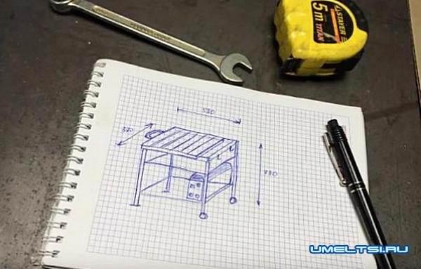 чертеж сварочного стола