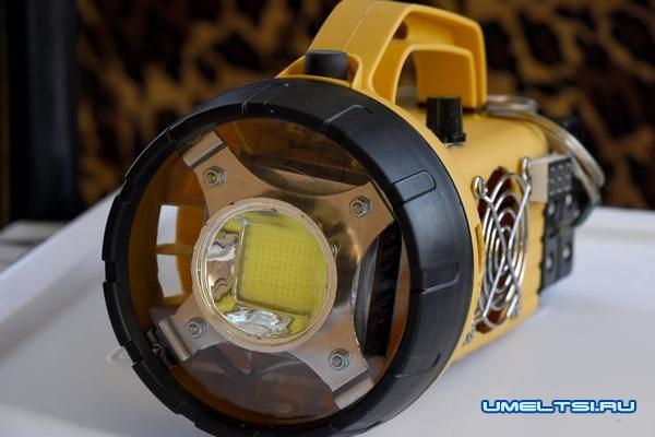 Мощный светодиодный фонарь своими руками-поєтапно