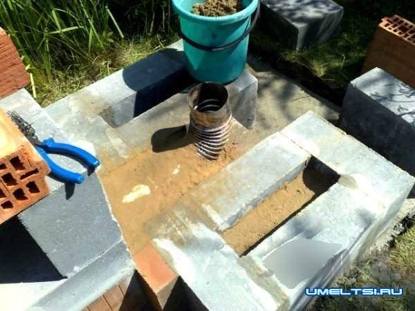 Кирпичная барбекю–коптильня своими руками