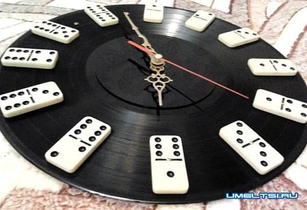 настенные часы своими руками-декупаж