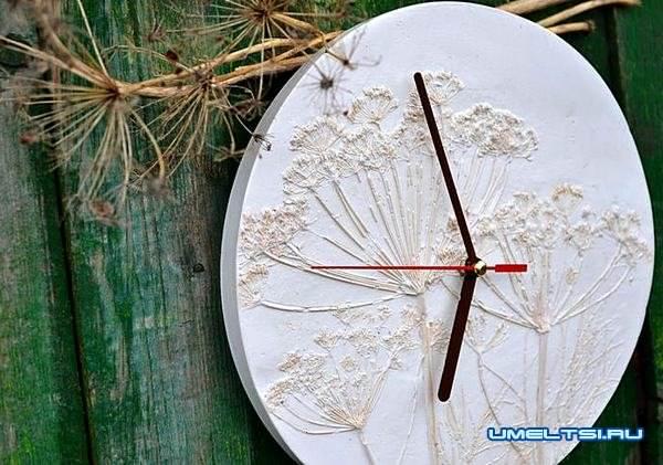 настенные часы своими руками-гипс