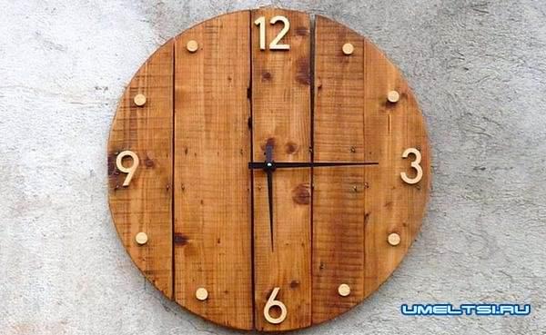 настенные часы своими руками-из палочек