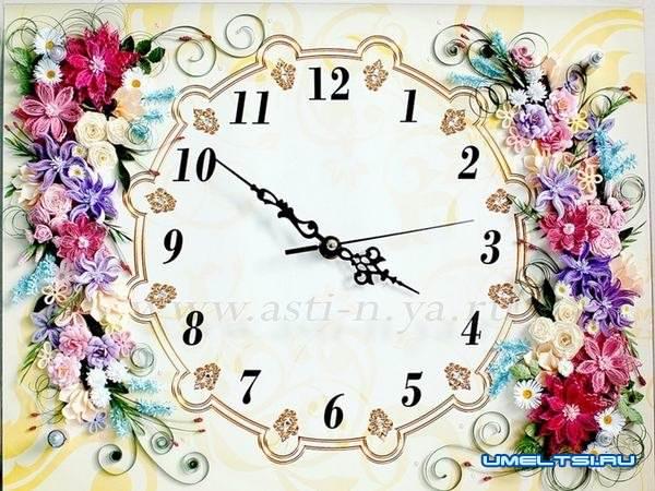 настенные часы своими руками-квилинг