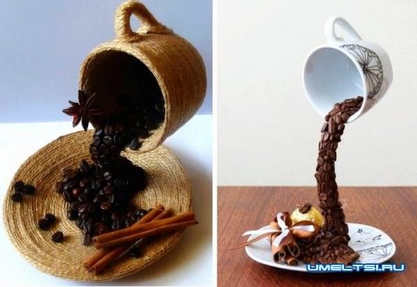 кофейный топиарий своими руками-варианты