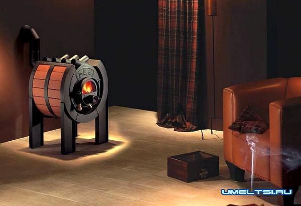 Печь булерьян в интерьере комнаты