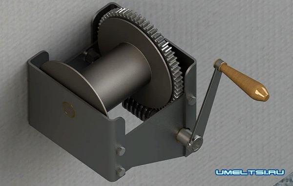 Ручная барабанная лебедка своими руками: сборка