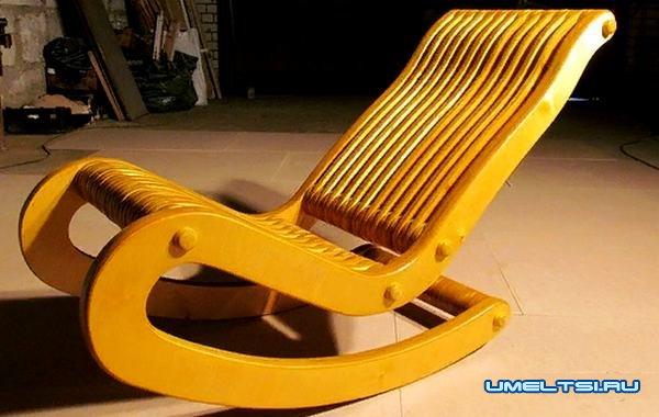 Наиболее распространенные модели кресла-качалки: фанера