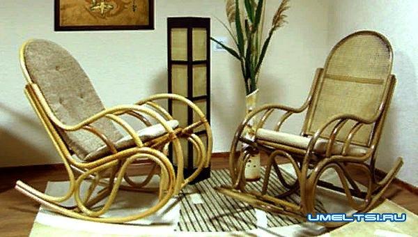Наиболее распространенные модели кресла-качалки: ротанговое