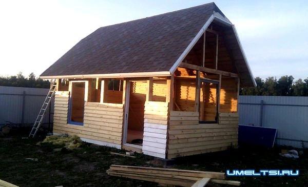дачный домик своими руками-поэтапно