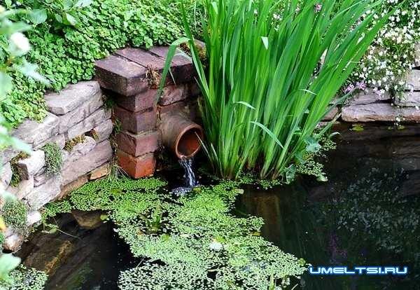 где размещать искусственный водоем