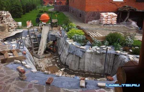 Создание пруда на даче своими руками