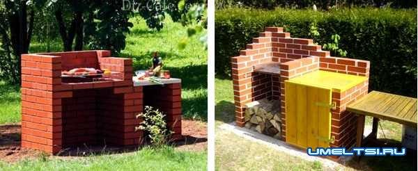 Как построить кирпичный гриль на даче (стационарный гриль)