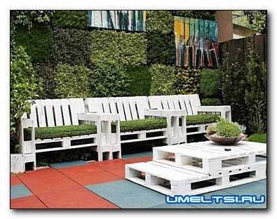 Уголок отдыха: садовая мебель из подручных материалов