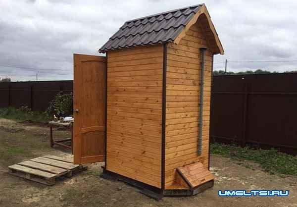 Пошаговое описание строительства туалета